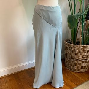 GORGEOUS Baby Blue Maxi Skirt